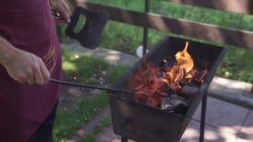 Soyez prêt pour la partie de barbecue banque de vidéos