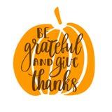 Soyez reconnaissant et donnez les mercis illustration de vecteur