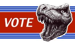 Soyez responsable - affiche d'élection présidentielle avec Image libre de droits