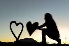 Soyez romantique et amour Photographie stock libre de droits