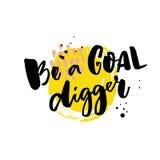 Soyez un bêcheur de but Motivation indiquant, typographie approximative sur la tache jaune illustration de vecteur
