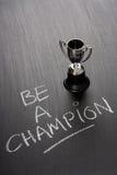 Soyez un champion Images stock