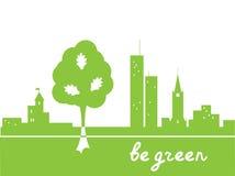 Soyez vert illustration de vecteur