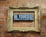 Soyez vous-même photos libres de droits