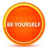 Soyez vous-même bouton rond orange naturel illustration de vecteur