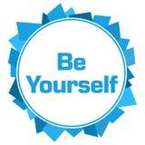 Soyez vous-même cercle aléatoire bleu de formes Image libre de droits