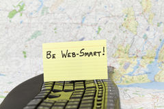 Soyez Web-Smart pour la sécurité d'Internet Images libres de droits