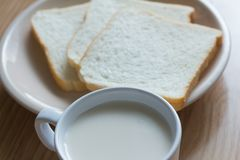 Soymilk i chleb Zdjęcie Stock
