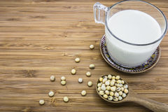 Soymilk from soybeans Royalty Free Stock Images