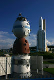 Soyuz and Ariane Royalty Free Stock Photography