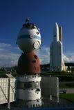 Soyuz en Ariane royalty-vrije stock fotografie