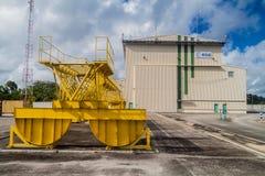 Soyuz-Produkteinführungs-Komplex in der Guayana-Raum-Mitte lizenzfreies stockfoto
