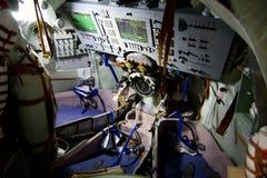 Soyuz-Raummodul nach innen Stockfotos