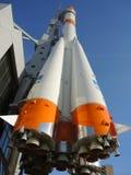 Soyuz rocket in Samara, Russia. stock photo