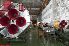Soyuz space rocket assembly building Stock Photos