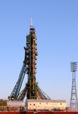 Soyuz Spacecraft on the Launch Pad. On the 21st of December, 2011 at Baikonur cosmodrome, Kazakhstan Royalty Free Stock Images