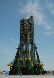 Soyuz Spacecraft On The Launch Pad Royalty Free Stock Photo