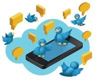 Sozial-Media Communication Stockbild