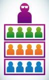Sozial-Verhältnis Stockfotos