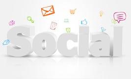 Sozialart Design Lizenzfreie Stockfotografie