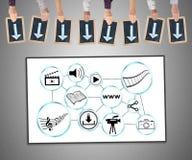 Sozialaustausch von informationen-Konzept auf einem whiteboard lizenzfreies stockbild