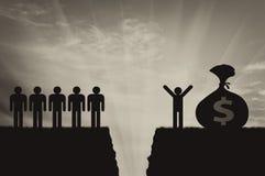 Soziale Ungleichheit von Leuten und von Abstand zwischen ihnen vektor abbildung