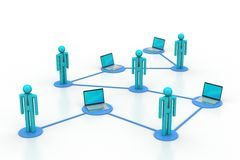 Soziales Netz und Werbekonzeption Stockbilder