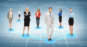 Soziales oder Geschäftsnetz stockbilder