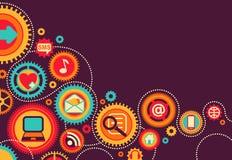 Soziales und Medienkommunikation Lizenzfreie Stockfotografie