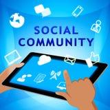 Sozialgemeinschaft zeigt Illustration der Netz-Blog-3d Lizenzfreies Stockbild