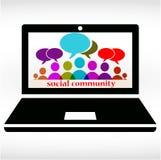 Sozialgemeinschaftschat Lizenzfreie Abbildung