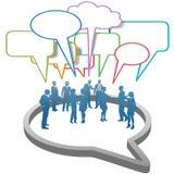 SozialGeschäftsleute Netz-innerhalb der Rede Lizenzfreie Stockfotos