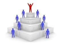 Sozialhierarchie. Führung. stock abbildung