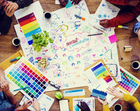 Sozialkommunikations-Design-Sitzung stockfotos