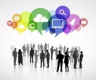 Sozialkommunikations-Vektor Stockbilder