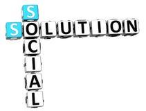 Sozialkreuzworträtsel der lösungs-3D Stockbilder