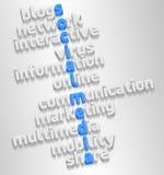 Sozialmedia in 3D lizenzfreie abbildung