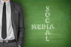 Sozialmedia auf Tafel Lizenzfreie Stockfotografie
