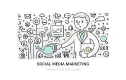 Sozialmedia, die Konzept vermarkten Stockbild
