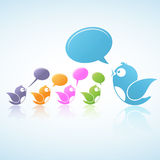 Sozialmedia-Diskussion Lizenzfreies Stockbild