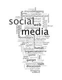 Sozialmedia Infotext Grafik-Wortwolken lizenzfreie stockbilder