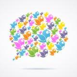 Sozialmedia-Kommunikations-Vektor Stockfotografie