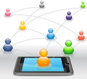 Sozialmedia-Netz auf Smartphone Stockfotografie
