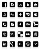 Sozialmedia-Tasten 1 Stockfotografie
