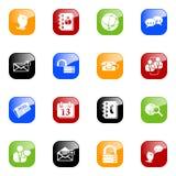 Sozialmedia u. Blogikonen - färben Sie Serie Lizenzfreie Stockbilder