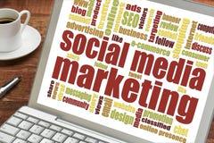 Sozialmedia Vermarkten Stockfoto