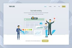Sozialmedia Vermarkten Planende Medien, Förderungen, Firmen, digitales Marketing stock abbildung