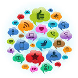 Sozialmedia-Wolke stock abbildung