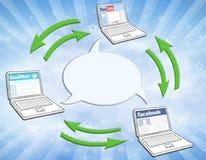 Sozialmedia-Zirkulation Lizenzfreie Stockfotos