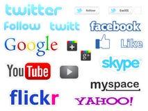 Sozialmediaikonen Stockbilder